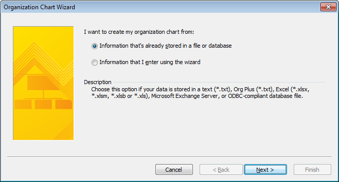 Selecting a file as the data source
